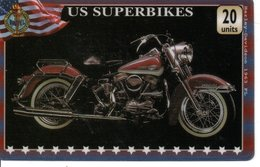 Carte Prépayée US Superbikes Moto Motor Card (G 153) - Motos