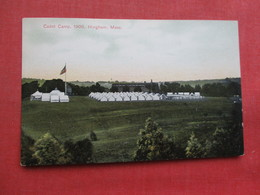 Cadet Camp  1906 Hingham Mass    Ref 3358 - Militaria