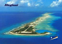 Marshall Islands Illeginni Aerial View New Postcard Marshallinseln AK - Marshall Islands