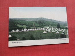 Hand Colored  Soldiers Camp    Ref 3358 - Militaria