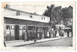 """ROBINSON - Le """"MODERN'BAR"""" - 54-56 Rue De Malabry (cliché De Groupe Devant Le Bar) - Francia"""