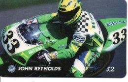 Carte Prépayée JOHN  REYNOLDS Moto Compétition Motor Card (G 154) - Motos