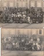 Hôpital Militaire De VILLEDIEU. - Deux Belles Cartes-photos Avec Correspondance - Militaria