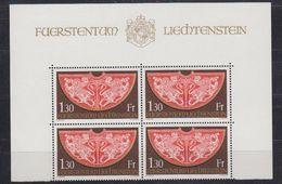 Liechtenstein 1975 Reichskleinodien 1v Bl Of 4  ** Mnh (42763) - Ongebruikt