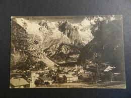19934) COURMAYEUR E LA CATENA DEL MONTE BIANCO VIAGGIATA 1930 - Italia