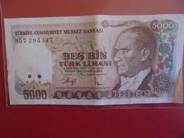 TURQUIE 5000 LIRA 1970(90)  CIRCULER - Turquie