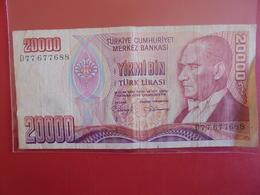 TURQUIE 20.000 LIRA 1970(88)  CIRCULER - Turquie