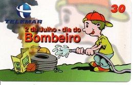 BD Pompier Fire Feu Feuerwehr Télécarte Phonecard (G 156) - Pompiers
