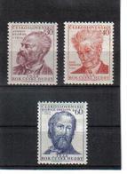 POL533 TSCHECHOSLOWAKEI CSSR 1954 MICHL 864/66 ** Postfrisch SIEHE ABBILDUNG - Tschechoslowakei/CSSR