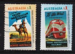 Australia 2017 Trans-Australian Railway Set Of 2 Used - 2010-... Elizabeth II