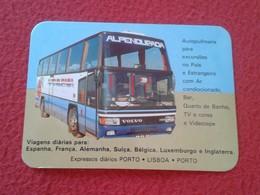 CALENDARIO DE BOLSILLO MANO PORTUGAL PORTUGUESE CALENDAR 1986 VIAÇAO ALPENDURADA VIAJES AUTOCAR BUS AUTOBUS AUTO CAR - Calendars