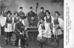 Ligeli's Neuestes Ungarisches Tamburitza -Fliegende Zigeuner Bank Ban HUNGARY - Costumes