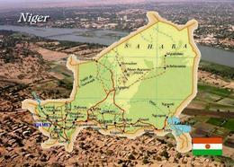 Niger Country Map New Postcard Landkarte AK - Niger