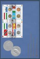 Nations Unies FDC - Premier Jour - Grand Format - Série Des Monnaies Et Des Drapeaux - Emissions Communes - 2007 - Gezamelijke Uitgaven New York/Genève/Wenen