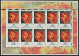 2471 Blumen 20 Cent Tagetes - Zehnerbogen ** Postfrisch - BRD