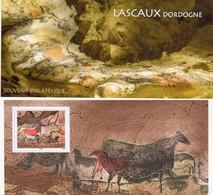 BLOC SOUVENIR LASCAUX (DORDOGNE) ** SOUS BLISTER  NON OUVERT. VOIR SCAN - Foglietti Commemorativi