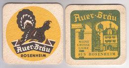 Auer Bräu Rosenheim , Meine Grosse Liebe Aus Rosenheim - Bierdeckel