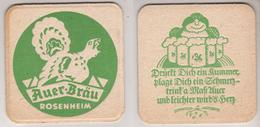 Auer Bräu Rosenheim , Drückt Dich Ein Kummer , Plagt Dich Ein Schmerz- Trink A Maß - Bierdeckel