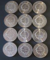 LOT DE 12 X 50 FRANCS ARGENT . - M. 50 Francs