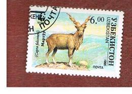 UZBEKISTAN   - SG 62 - 1995 WWF.: ENDANGERED SPECIES (CAPRA  FALCONERI) -   USED - Uzbekistan