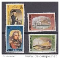 Gibraltar 1980 Death Of Lord Nelson 4v ** Mnh (42767I) - Gibraltar