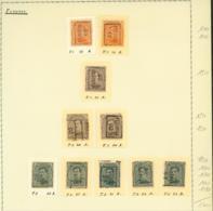 BELGIQUE PREOS FLEURUS 1919-1922  POS A,B,C,D VAL CAT 1800 FB MONTE SUR FEUILLE (DD) DC-3270 - Precancels