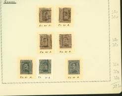 BELGIQUE PREOS GENVAL 2-3C 1920-1922  POS A,B,C,D VAL CAT 2450 FB MONTE SUR FEUILLE (DD) DC-3284 - Precancels