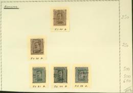BELGIQUE PREOS GENAPPE 2-3C 1920-1922  POS A,B,C,D VAL CAT 2140 FB MONTE SUR FEUILLE (DD) DC-3285 - Precancels