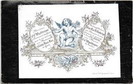 Fair-part Mariage * (carte Porcelaine) Colette Van Loo - De Roderigo (Gent) X Wyckhuyse (Roulers) - Cartes Porcelaine