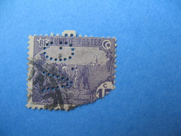 Perforé  Perfin   Tunisie ,   Perforation :   VG 20    à Voir - Tunisie (1888-1955)