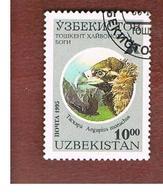 UZBEKISTAN   - SG 97   - 1993 TASHKENT ZOO: BIRDS (AEGYPIUS MONACHUS)   -   USED - Uzbekistan