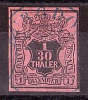 Hanovre - 1851 - N° 3 Oblitéré - Hannover