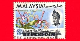 MALESIA - MALAYSIA - Usato - SELANGOR - 1965 - Fiori - Orchidee - Arachnis Flos-aeris - Sultano - 10 - Malesia (1964-...)
