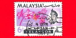 MALESIA - MALAYSIA - Usato - SELANGOR - 1965 - Fiori - Orchidee - Spathoglottis Plicata - Sultano - 6 - Malesia (1964-...)