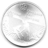 Canada - 10 Dollars Argent 1976 Jeux Olympiques - Hockey Sur Gazon - Canada