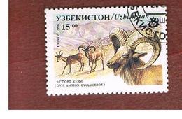 UZBEKISTAN   - SG 109   - 1996 ANIMALS: AFGHAN URIAL   -   USED - Uzbekistan