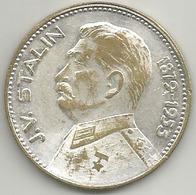 Comunismo, Storia, Unione Sovietica, J.V. Stalin 1879-1955, Mistura Argentata 14 Gr. Cm. 3,5. - Gettoni E Medaglie