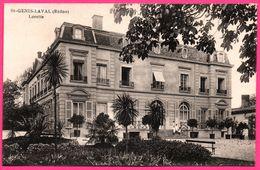 St Genis Laval - Saint Genis Laval - Château - Lorette - Animée - 1920 - Autres Communes