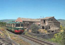 424 FCE - Ferrovia Circumetnea ADe 20 TIBB Montelaguardia Catania Sicilia Railroad Trein Railweys Treni - Trenes