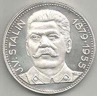 Comunismo, Storia, Unione Sovietica, J.V. Stalin 1879-1955, Mistura Argentata 16 Gr. Cm. 3,5. - Gettoni E Medaglie