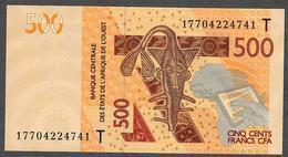 W.A.S. LETTER T TOGO P819Tf 500 FRANCS (20)17  2017 UNC. - Togo