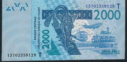 W.A.S.  TOGO  P816To 2000 FRANCS (20)15  UNC. - Togo