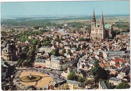 Chartres - La Place Des Epars Et La Cathédrale - Vue Aérienne, Pilote Et Opérateur R. Henrard - (Eure-et-Loir) - Chartres
