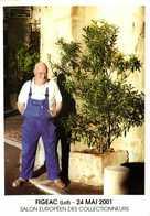 """FIGEAC (Lot) 24 Mai 2001 Salon Européen Des Collectionneurs Jacques Gleye Ancien Brasseur """"La Meuse"""" Historien Local RV - Collector Fairs & Bourses"""