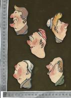 CHROMO DECOUPIS  / LOT DE 5 FIGURES CARICATURALES - Victorian Die-cuts