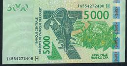 NIGER P617Hn  5000 FRANCS   (20)14 Date = 2014  AU - Niger
