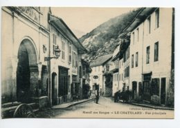 73 LE CHATELARD Rue Principale Carioles Anim 1920  D07 2019 - Le Chatelard