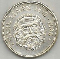 Marx Karl 1818 - 1888, Comunismo, Storia, Mistura Argentata 16 Gr. Cm. 3,5. - Germany