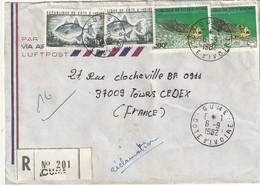 Côte D'ivoire - Lettre Avec Timbres - - Ivory Coast (1960-...)