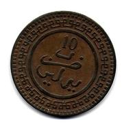 (Monnaies). Maroc. Morocco.  Abd Al-Aziz 10 Mazuna Mazouna 1320 Berlin (3) - Morocco